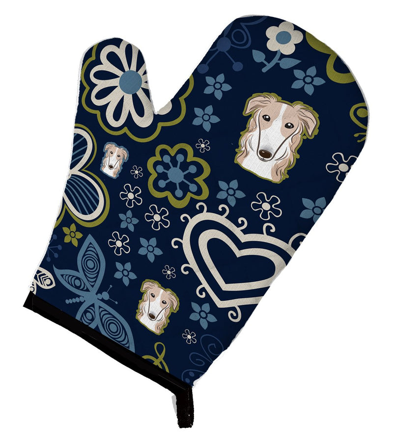Buy this Blue Flowers Borzoi Oven Mitt BB5079OVMT