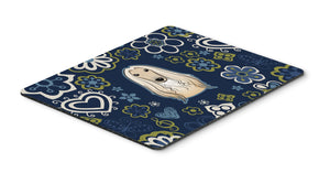"Buy this ""Blue Flowers Afghan Hound Mouse Pad, Hot Pad or Trivet"""