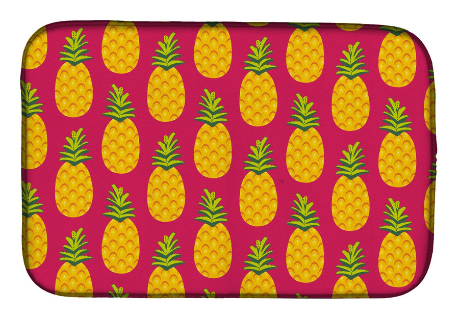 Buy this Pineapples on Pink Dish Drying Mat BB5136DDM
