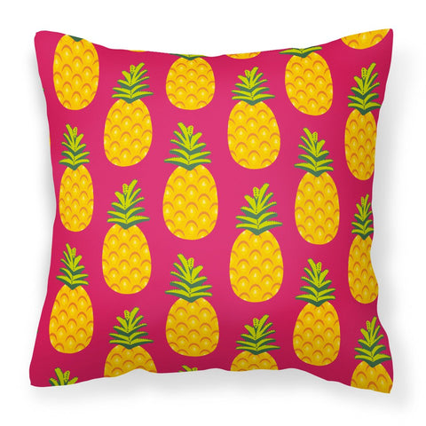 Buy this Pineapples on Pink Fabric Decorative Pillow BB5136PW1818