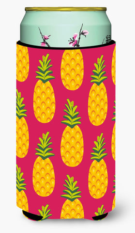 Buy this Pineapples on Pink Tall Boy Beverage Insulator Hugger BB5136TBC