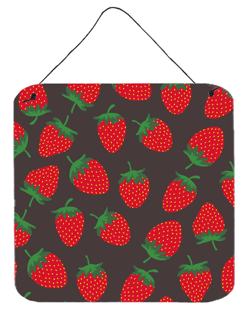 Buy this Strawberries on Gray Wall or Door Hanging Prints
