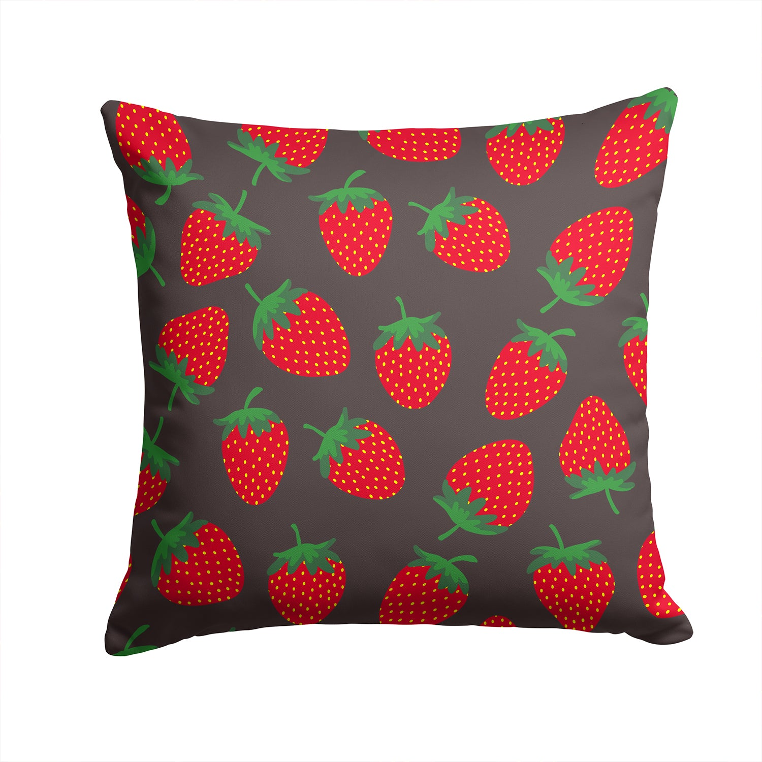 Buy this Strawberries on Gray Fabric Decorative Pillow BB5137PW1414