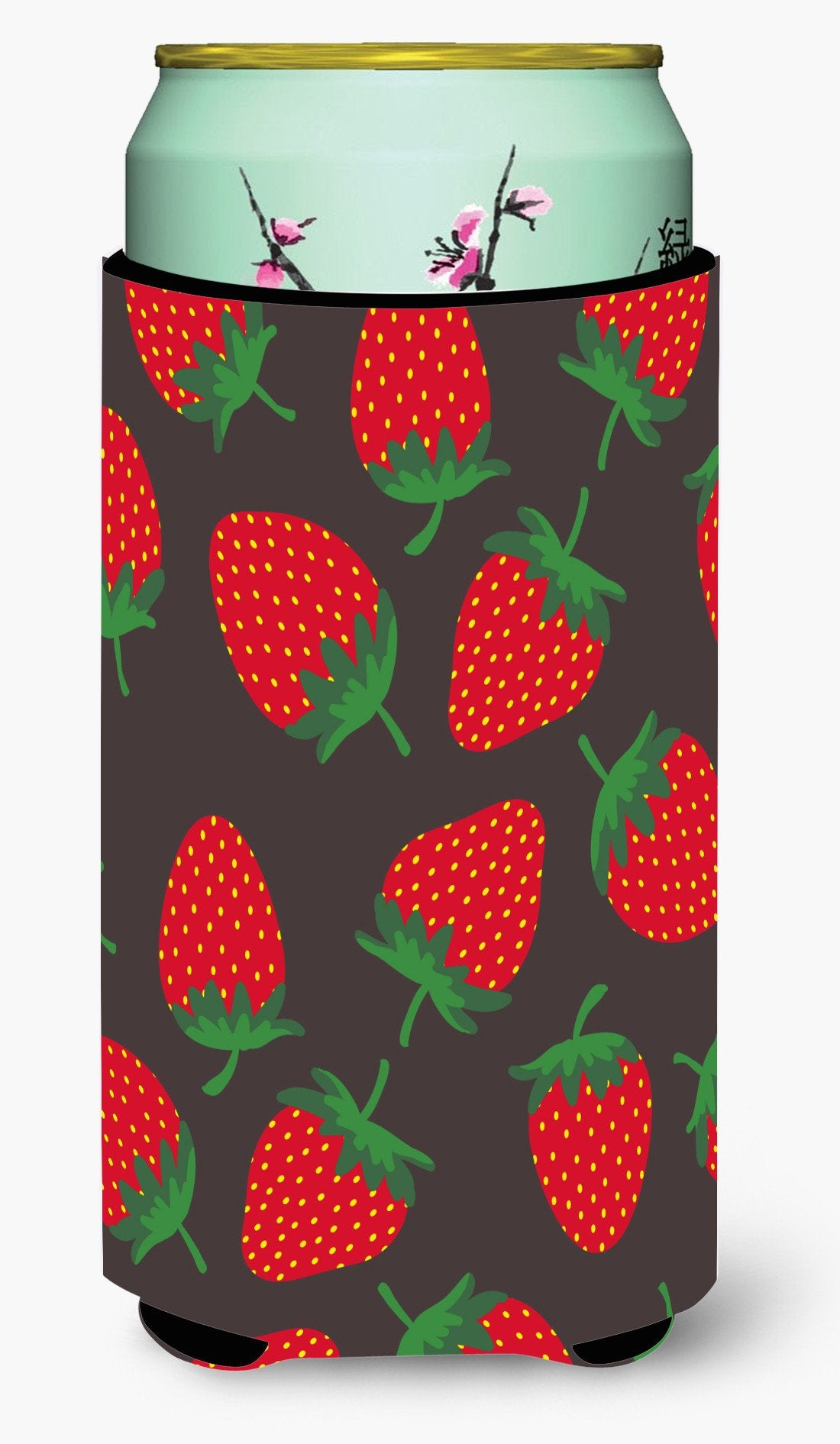 Buy this Strawberries on Gray Tall Boy Beverage Insulator Hugger BB5137TBC