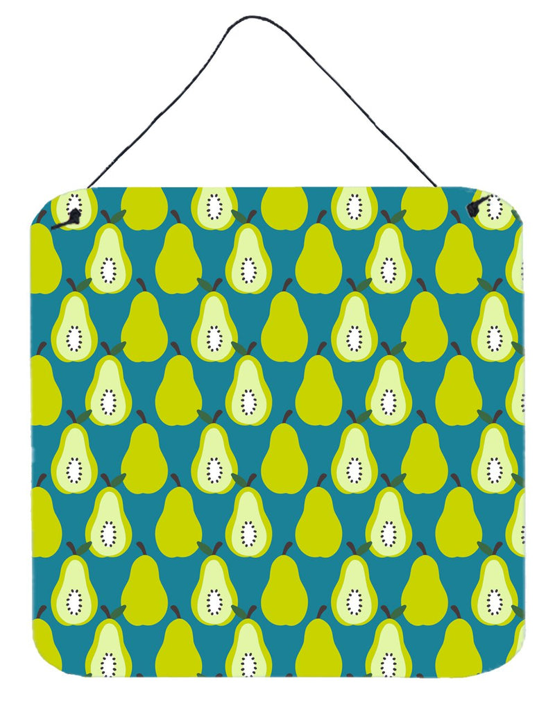 Buy this Pears on Green Wall or Door Hanging Prints