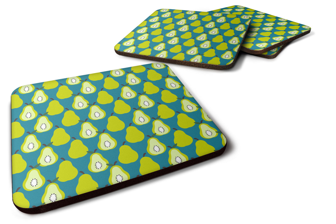 Buy this Pears on Green Foam Coaster Set of 4 BB5138FC