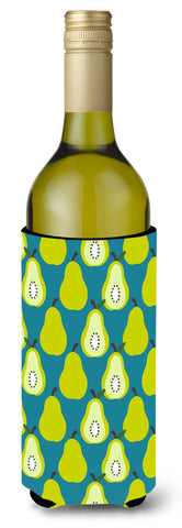 Buy this Pears on Green Wine Bottle Beverge Insulator Hugger BB5138LITERK