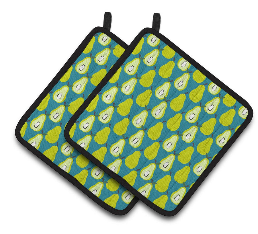 Buy this Pears on Green Pair of Pot Holders BB5138PTHD