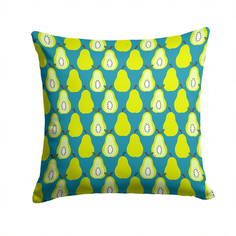 Buy this Pears on Green Fabric Decorative Pillow BB5138PW1414