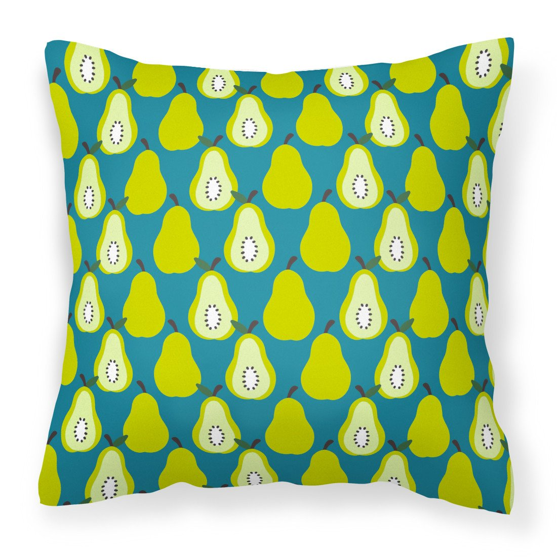 Buy this Pears on Green Fabric Decorative Pillow BB5138PW1818