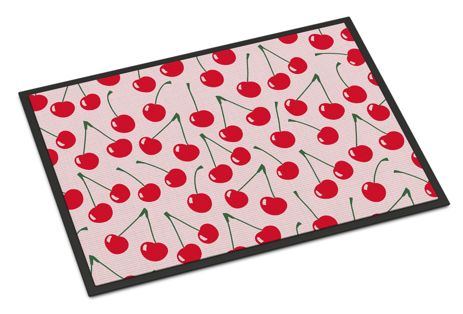 Cherries on Pink Indoor or Outdoor Mat 18x27 BB5139MAT by Caroline's Treasures