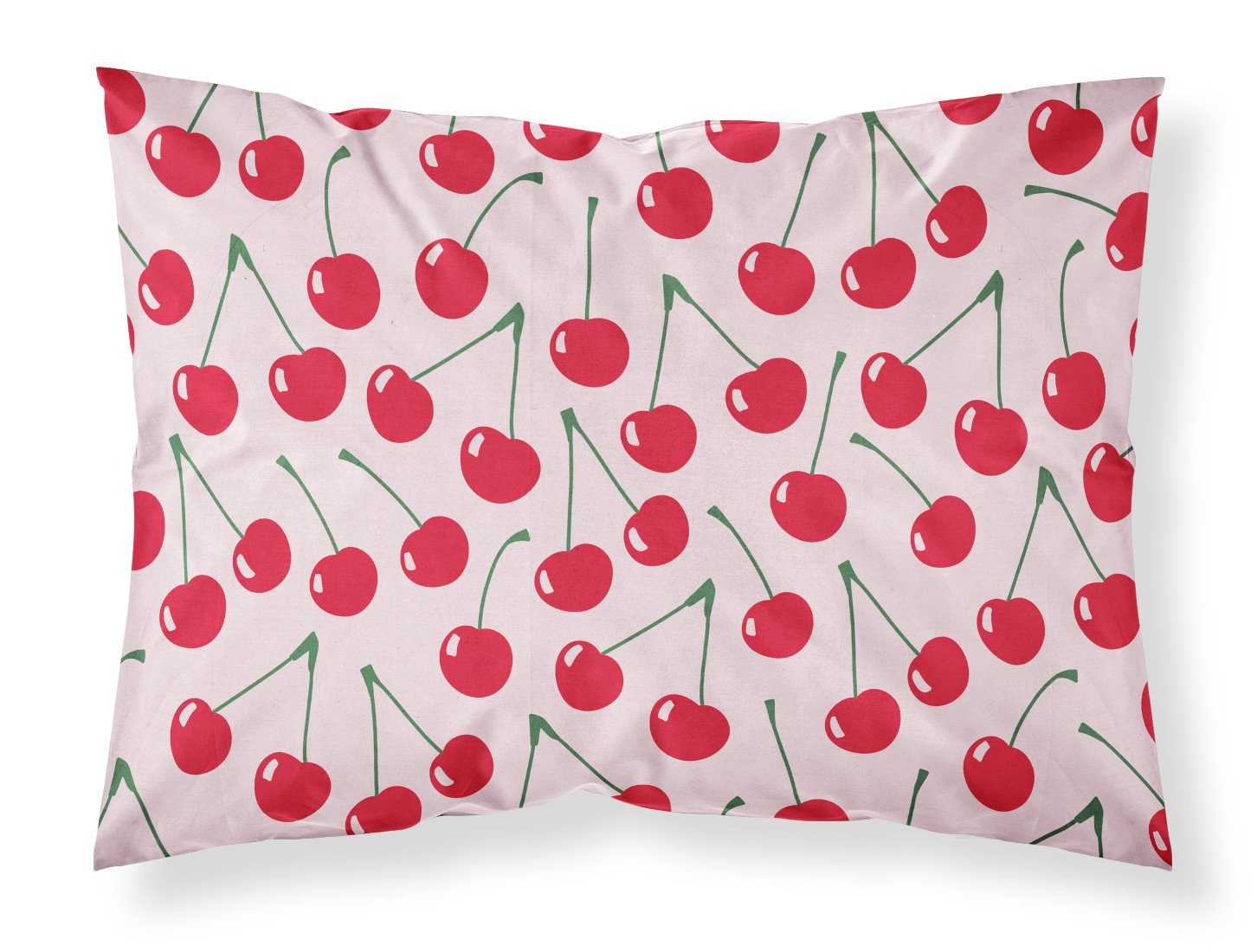 Cherries on Pink Fabric Standard Pillowcase BB5139PILLOWCASE by Caroline's Treasures