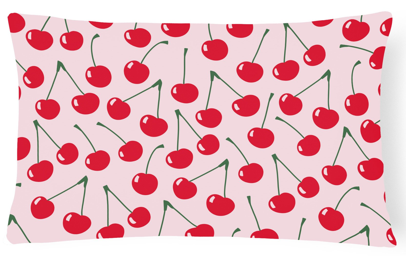 Cherries on Pink Canvas Fabric Decorative Pillow BB5139PW1216 by Caroline's Treasures