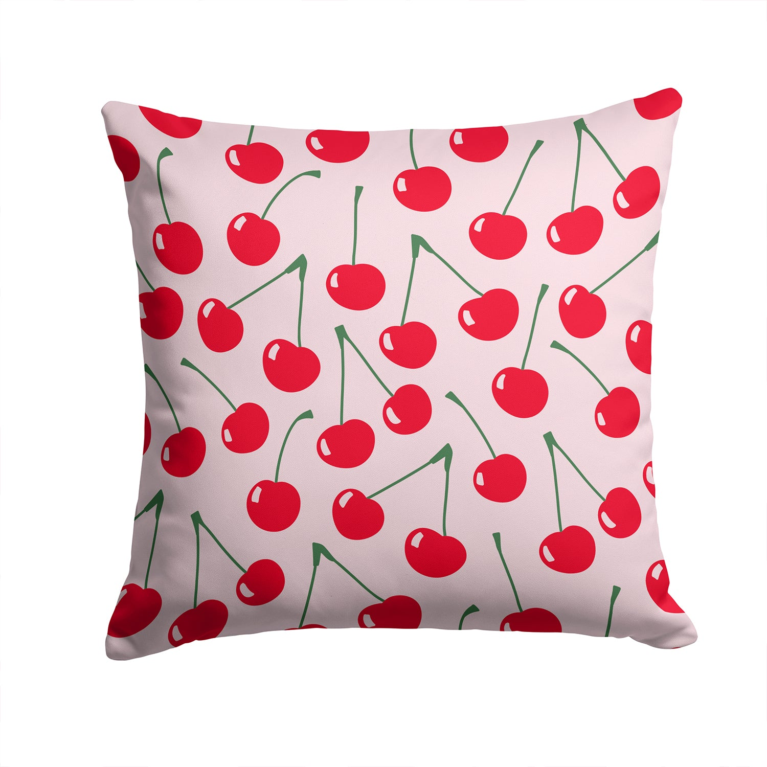 Cherries on Pink Fabric Decorative Pillow BB5139PW1414 by Caroline's Treasures