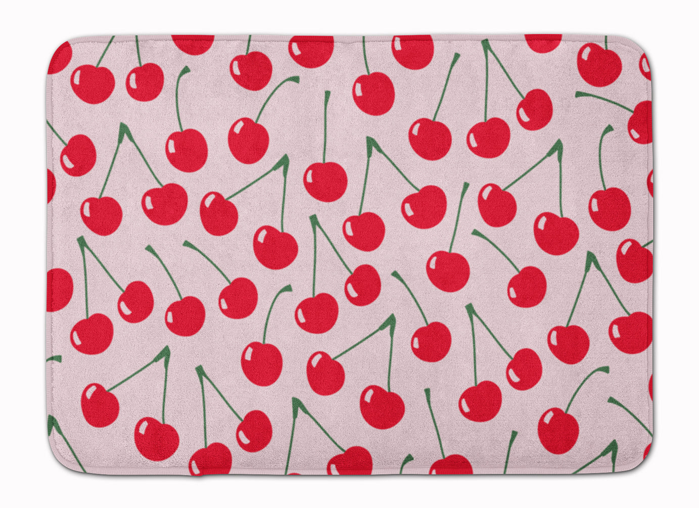 Cherries on Pink Machine Washable Memory Foam Mat BB5139RUG by Caroline's Treasures
