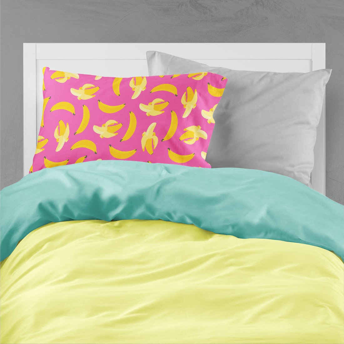 Bananas on Pink Fabric Standard Pillowcase BB5140PILLOWCASE by Caroline's Treasures