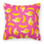 Bananas on Pink Fabric Decorative Pillow BB5140PW1818 by Caroline's Treasures