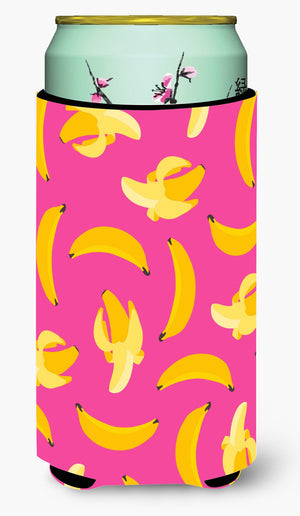 Buy this Bananas on Pink Tall Boy Beverage Insulator Hugger BB5140TBC
