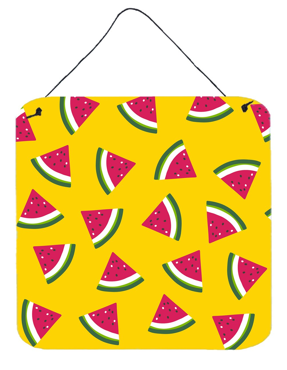 Buy this Watermelon on Yellow Wall or Door Hanging Prints BB5144DS66