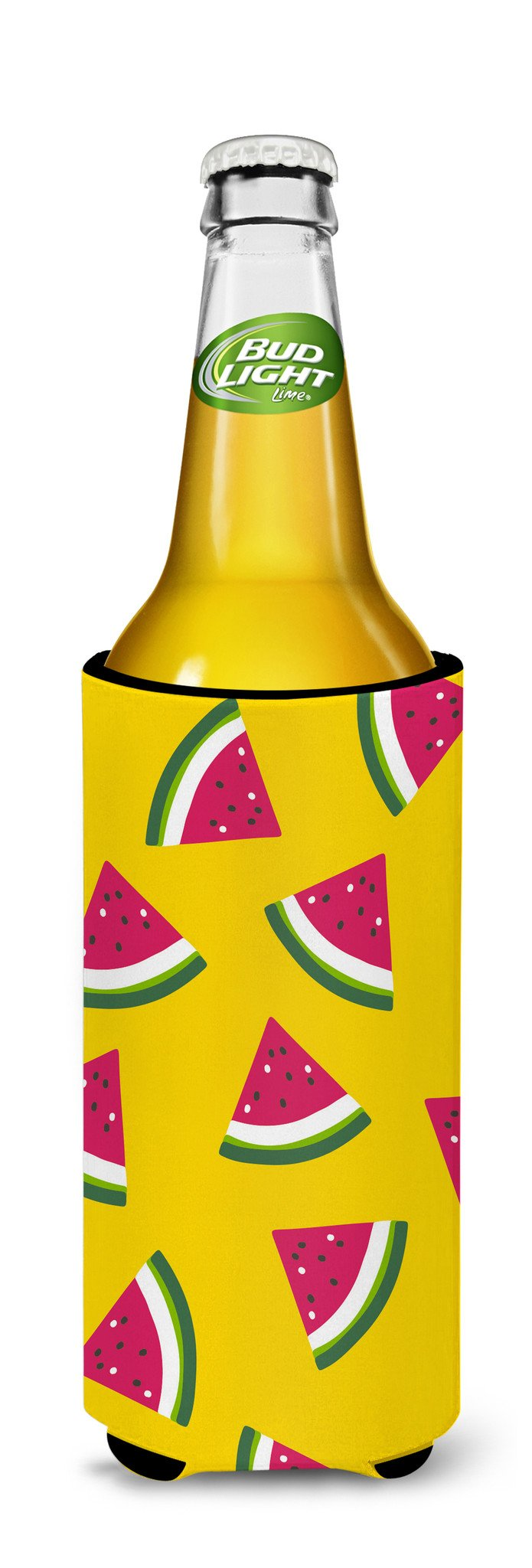 Watermelon on Yellow Michelob Ultra Hugger for slim cans BB5144MUK by Caroline's Treasures