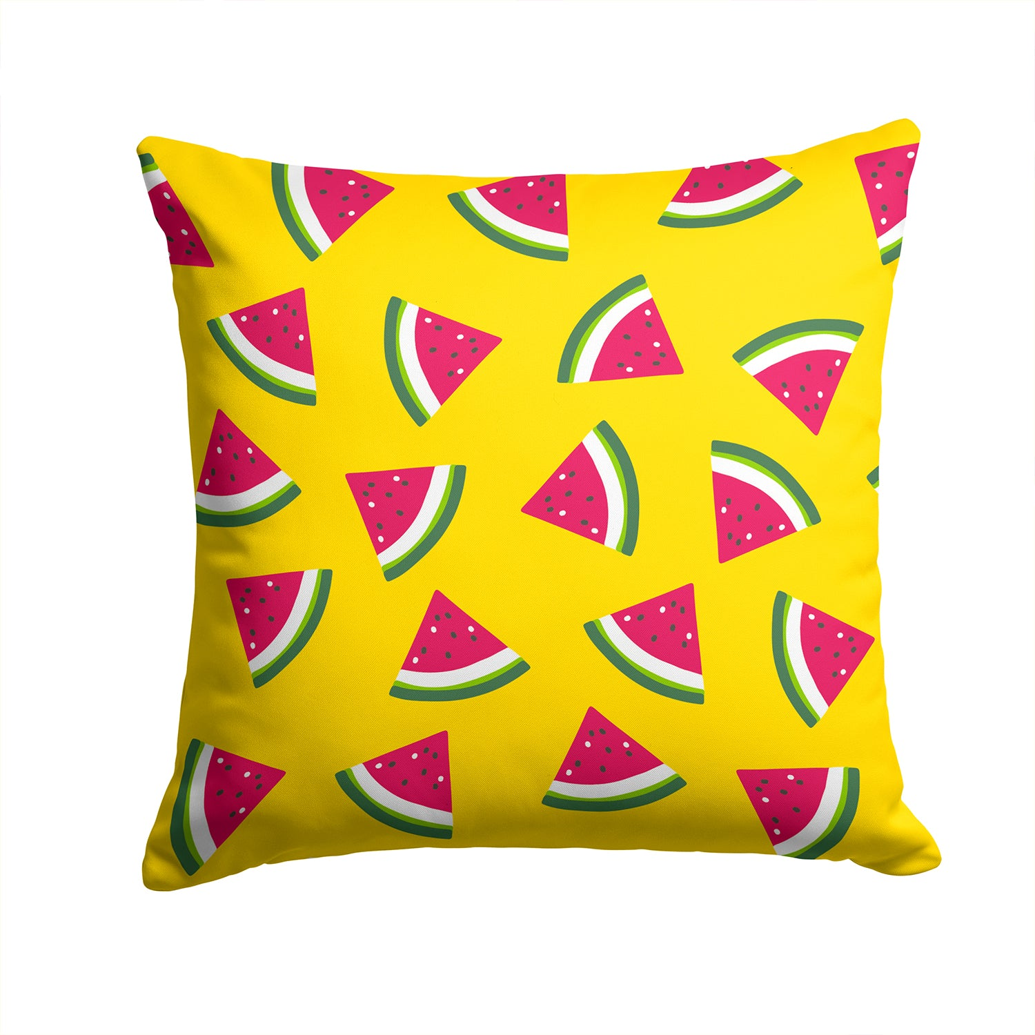 Watermelon on Yellow Fabric Decorative Pillow BB5144PW1414 by Caroline's Treasures