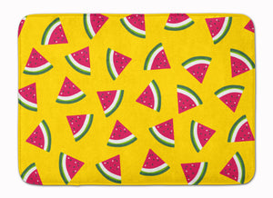 Buy this Watermelon on Yellow Machine Washable Memory Foam Mat BB5144RUG
