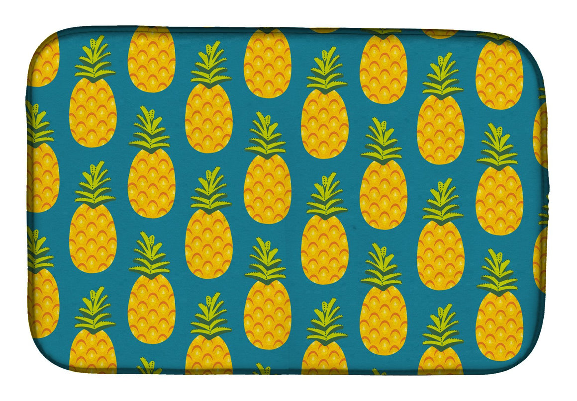 Buy this Pineapples on Teal Dish Drying Mat BB5145DDM