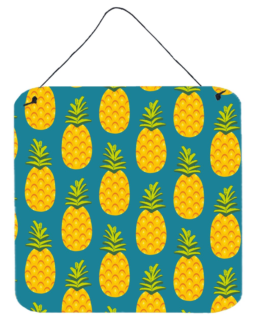 Buy this Pineapples on Teal Wall or Door Hanging Prints