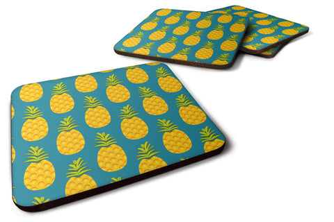 Buy this Pineapples on Teal Foam Coaster Set of 4 BB5145FC
