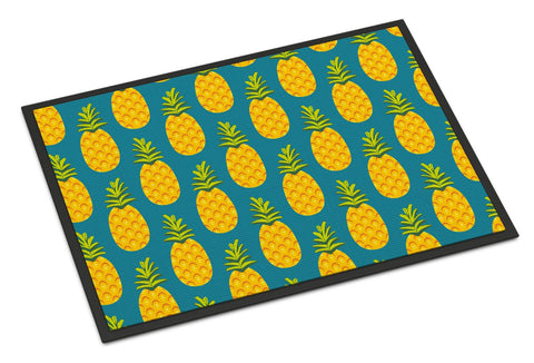 Buy this Pineapples on Teal Indoor or Outdoor Mat 24x36 BB5145JMAT