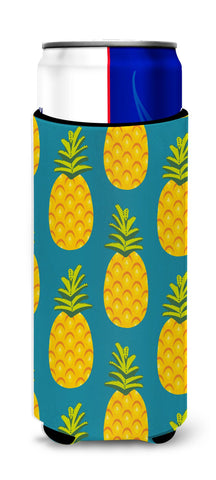 Buy this Pineapples on Teal Michelob Ultra Hugger for slim cans BB5145MUK