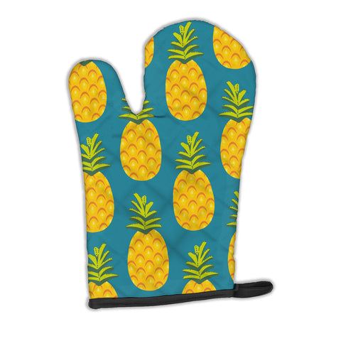 Buy this Pineapples on Teal Oven Mitt BB5145OVMT