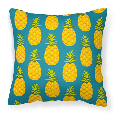Buy this Pineapples on Teal Fabric Decorative Pillow BB5145PW1818