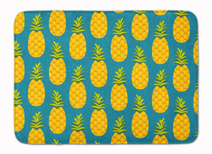 Buy this Pineapples on Teal Machine Washable Memory Foam Mat BB5145RUG