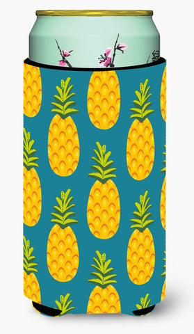 Buy this Pineapples on Teal Tall Boy Beverage Insulator Hugger BB5145TBC