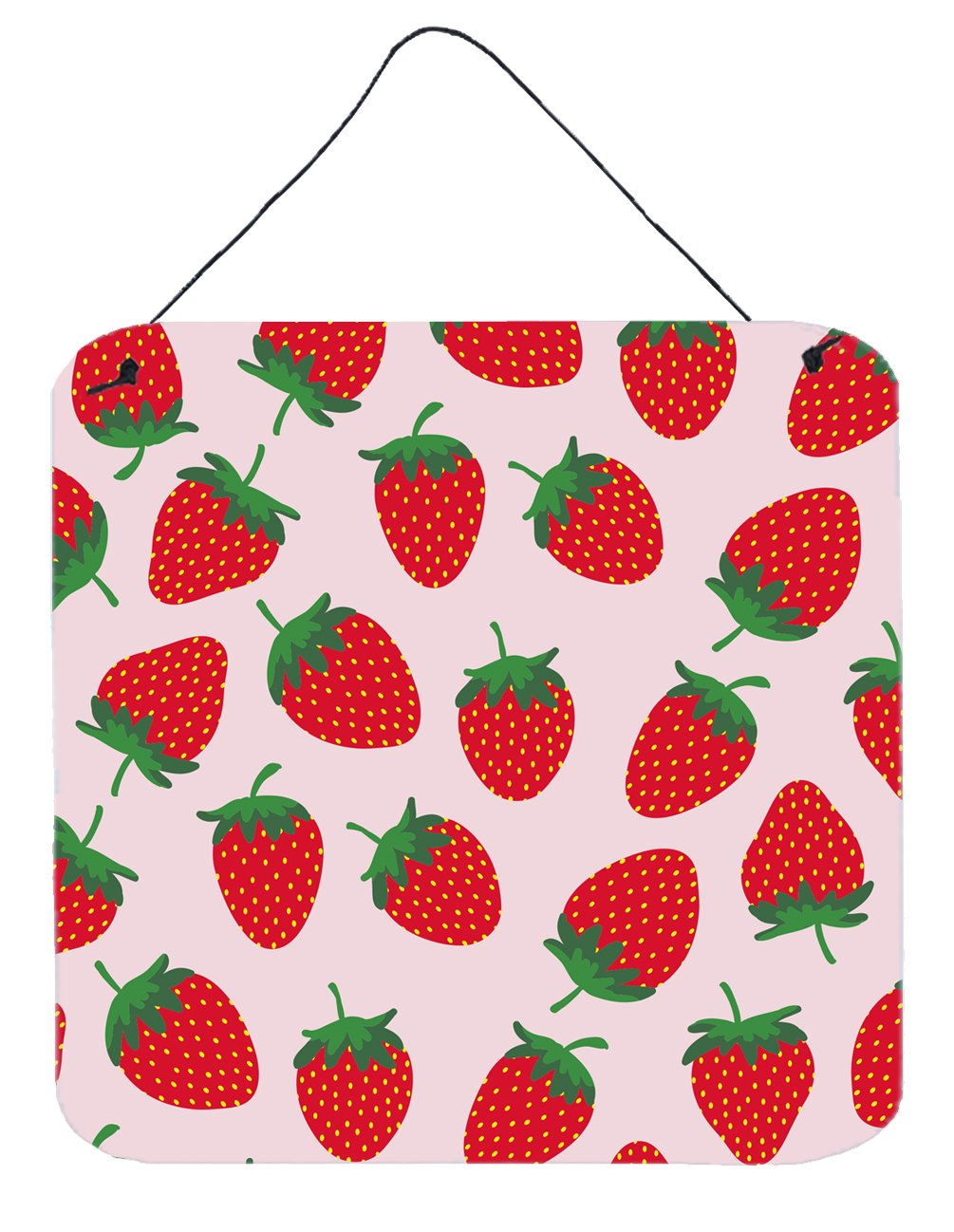 Buy this Strawberries on Pink Wall or Door Hanging Prints