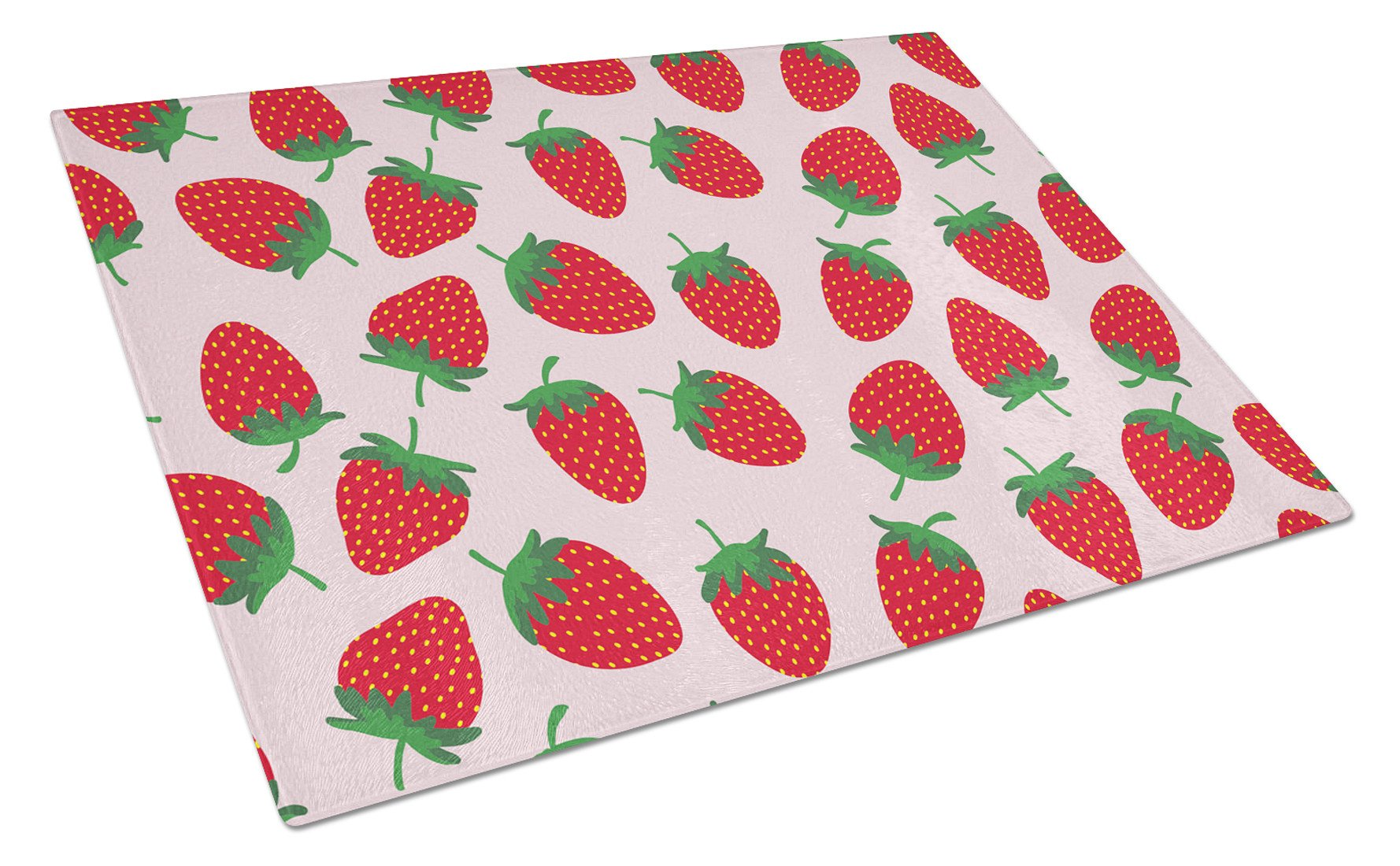 Buy this Strawberries on Pink Glass Cutting Board Large BB5146LCB