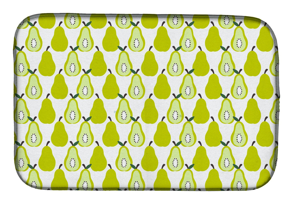 Buy this Pears on White Dish Drying Mat BB5147DDM