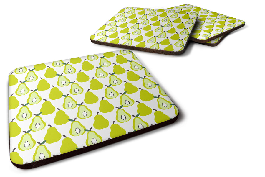 Buy this Pears on White Foam Coaster Set of 4 BB5147FC