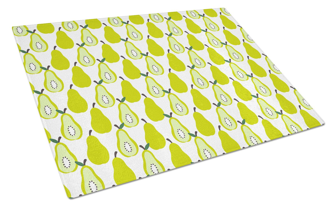 Buy this Pears on White Glass Cutting Board Large BB5147LCB