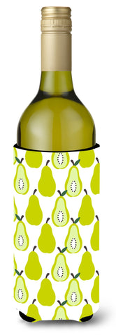 Buy this Pears on White Wine Bottle Beverge Insulator Hugger BB5147LITERK