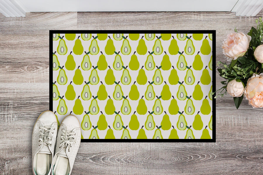 Buy this Pears on White Indoor or Outdoor Mat 18x27 BB5147MAT