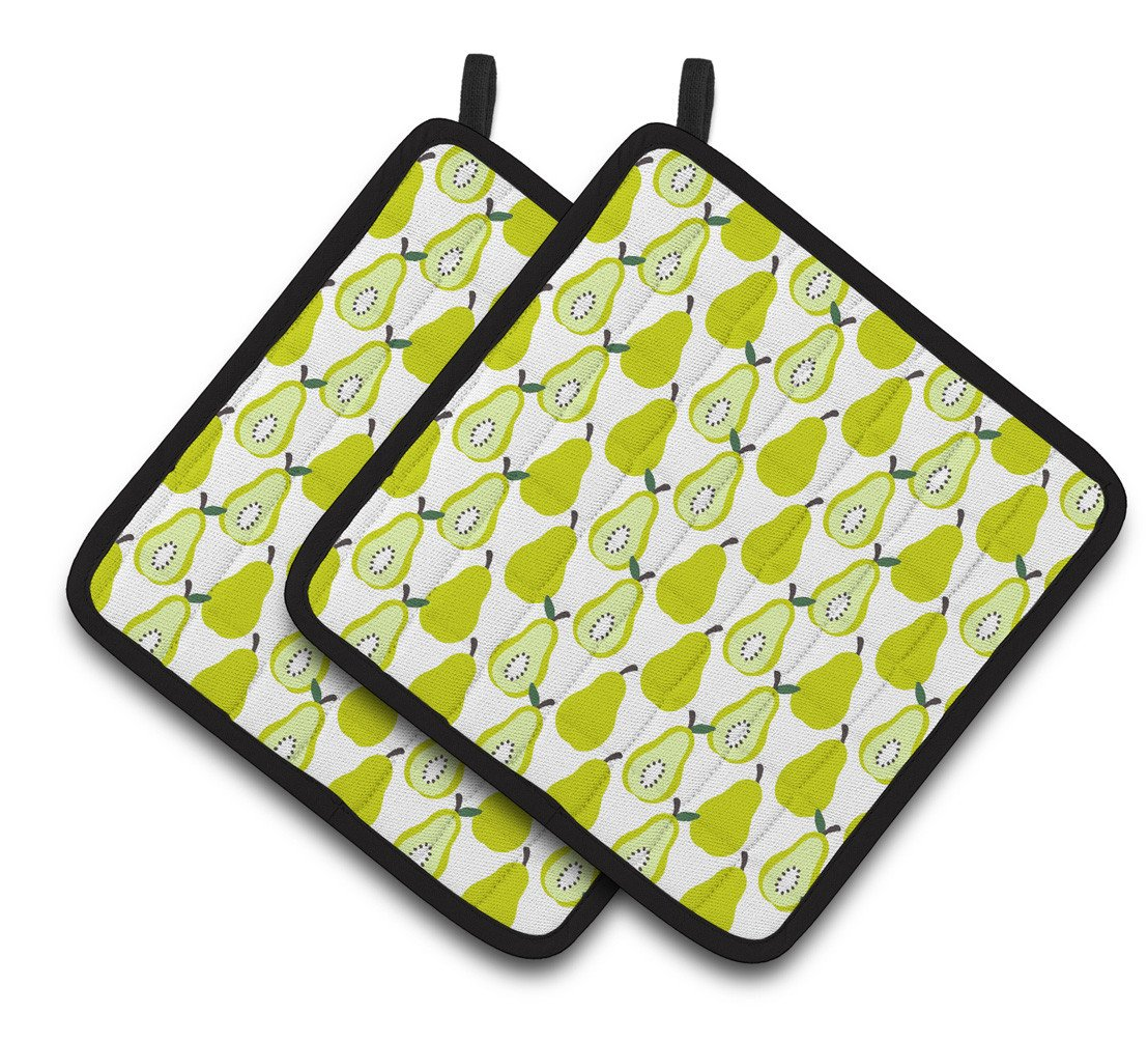 Buy this Pears on White Pair of Pot Holders BB5147PTHD