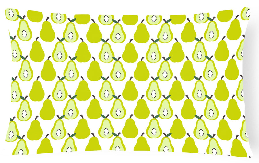 Buy this Pears on White Canvas Fabric Decorative Pillow BB5147PW1216