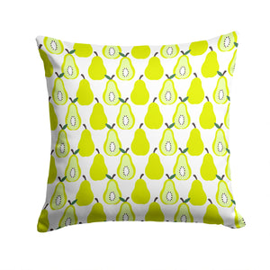 Buy this Pears on White Fabric Decorative Pillow BB5147PW1414