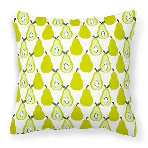 Buy this Pears on White Fabric Decorative Pillow BB5147PW1818