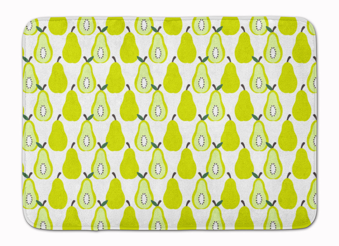 Buy this Pears on White Machine Washable Memory Foam Mat BB5147RUG