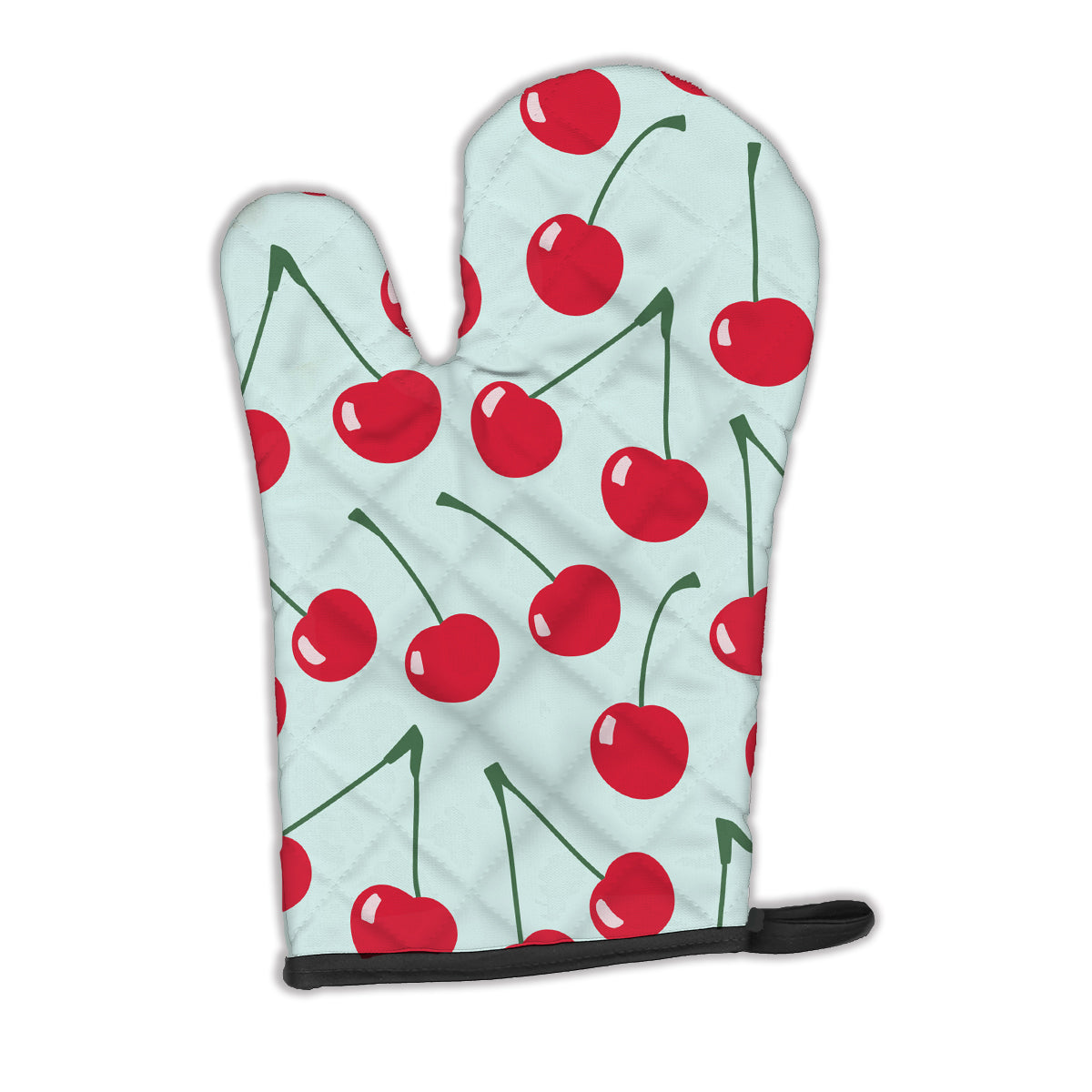 Cherries on Blue Oven Mitt BB5148OVMT by Caroline's Treasures