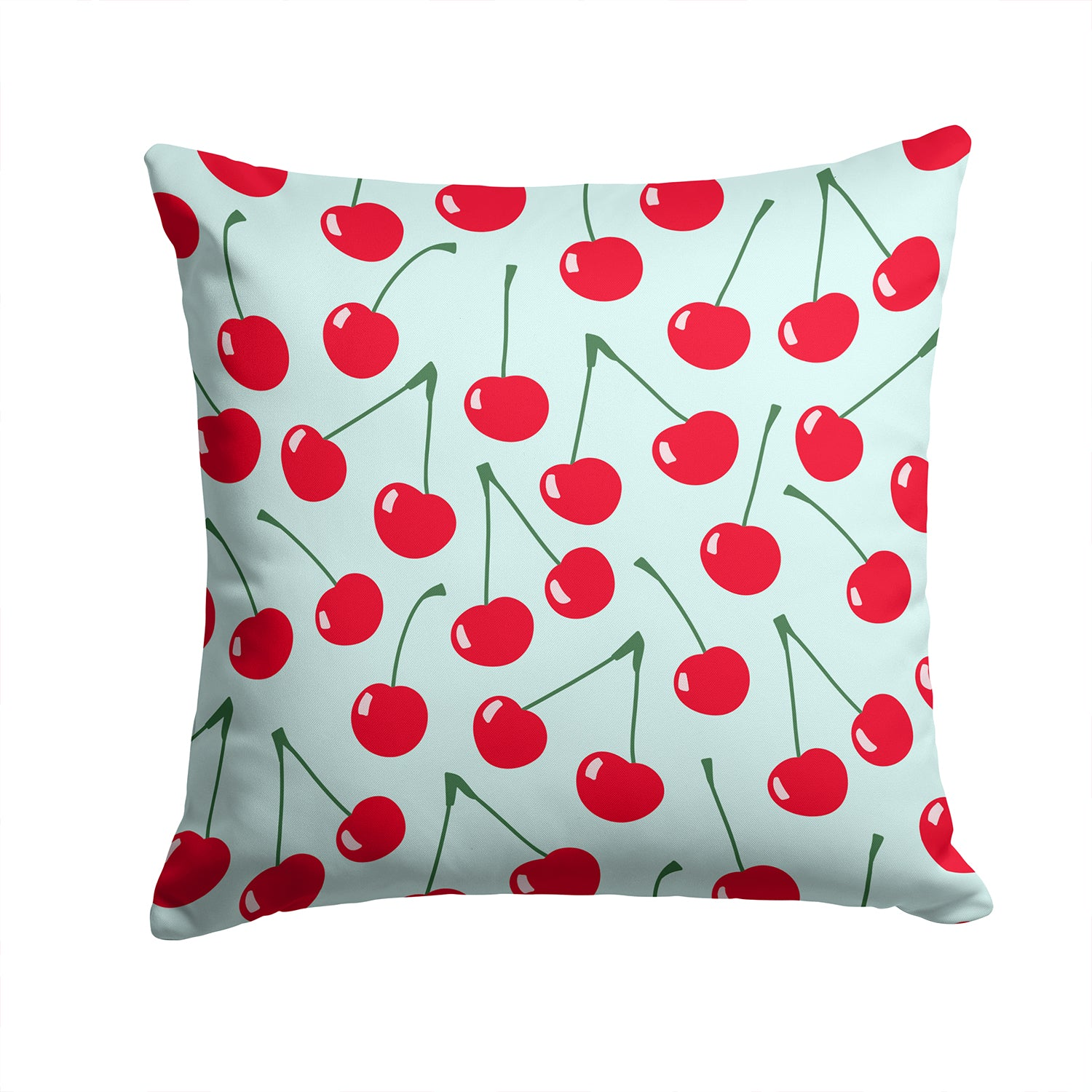 Cherries on Blue Fabric Decorative Pillow BB5148PW1414 by Caroline's Treasures