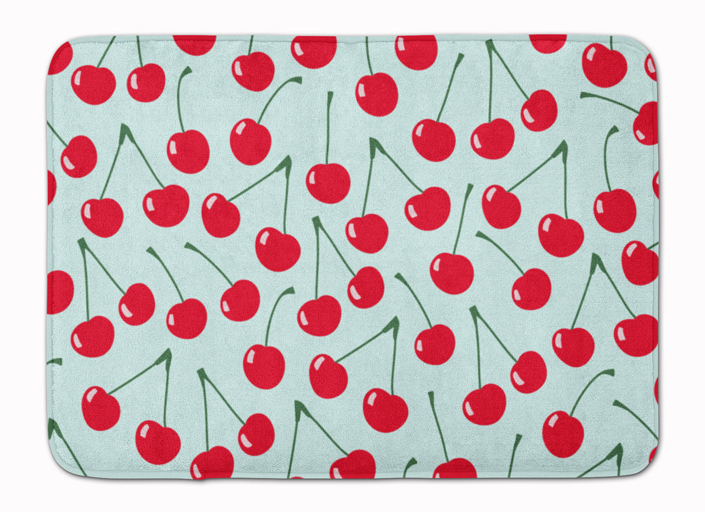 Cherries on Blue Machine Washable Memory Foam Mat BB5148RUG by Caroline's Treasures